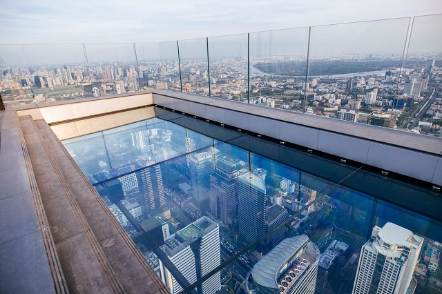Bangkok's tourist attractions - King Power Mahanakhon building skywalk in Bangkok, Thailand