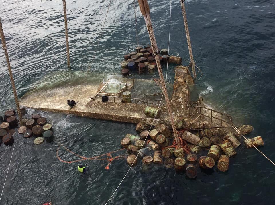 Phoenix Tourist Boat finally risen from Phuket's Deep Sea