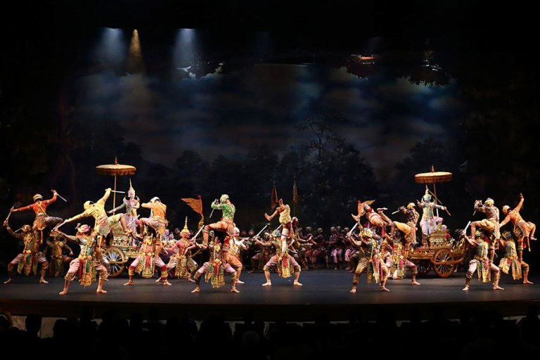 The Khon performance of Thailand is inscribed by Unesco as the intangible cultural heritage of humanity